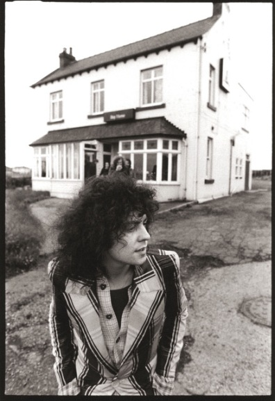 Marc Bolan of T-Rex somewhere in the North of England 1972