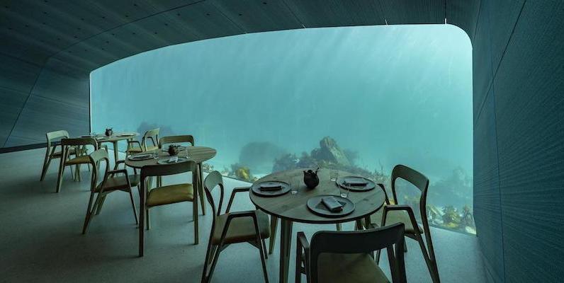 Il ristorante Under, Lindesnes, Norvegia (EPA/TOR ERIK/Ansa)